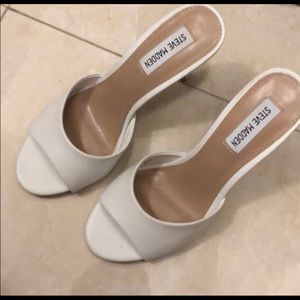 Steve Madden white heels